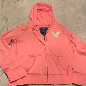 American Eagle fleece zip up hoodie